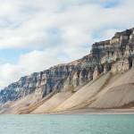 Einzigartige Landschaft auf dem Weg zu dem Van Post-Gletscher