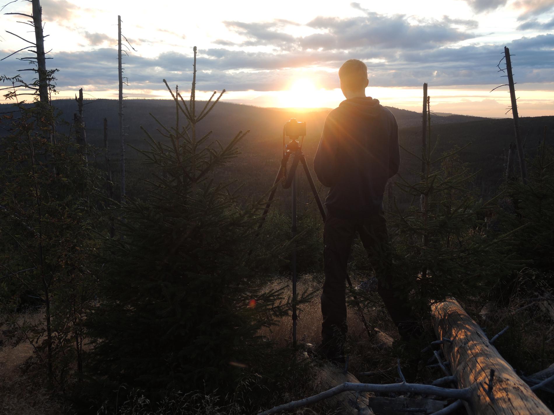 Sonnenuntergang am Siebensteinkopf
